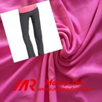 Quality polyester spandex interlock fabric for yoga pants for sale