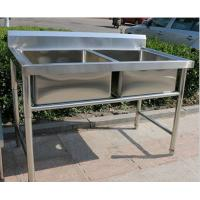 Quality Corrosion Resistant Stainless Steel Display Racks Double Bowl Kitchen Sink for sale