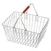 Quality Portable Retailing Rolling Shopping Baskets / Carts with Two Wheels HBE-R-4 390x390x520mm for sale