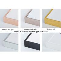 Quality Colored Metal Picture Frame Mouldings In Lengths For Canvas / Oil Painting for sale