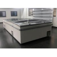 Quality Frost Free Commercial Chest Freezer Sliding Door , Glass Top Island Freezer for sale