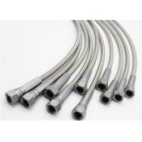 """Quality 1/4"""" X 6"""" 304 SS Wire Braided PTFE Hose With 1/4"""" Female JIC On Both Ends for sale"""