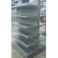 Quality Cold Rolled Steel Supermarket Display Shelving Racks / Adjustable Storage Shelf for sale
