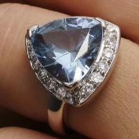 Quality Attractive Sapphire 925 Silver Ring, OEM/ODM Orders Welcomed for sale