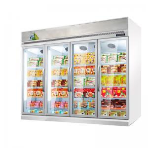 Quality Supermarket Refrigeration Equipment 1 2 3 4 Doors Vertical Display Fridge Cooler for sale