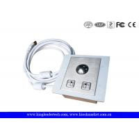 Buy Panel Mounted Industrial Pointing Device Stainless Steel Trackball Left Right Click Buttons at wholesale prices