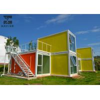 Quality Art Decorative Prefabricated Container House , Vacation Prefab Sea Container Homes for sale