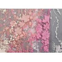 Quality Colourful Lace Material For Dressmaking / Embroidered Sequin Fabric SGS Approval for sale