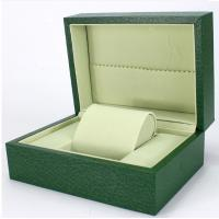 Quality Green Paper Watch Box / Jewelry Wooden Box Packaging Eco-friendly for sale