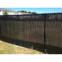 This is a chain link fence with black slats.