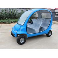 Quality Blue Electric Sightseeing Car 4 Wheels For Renting 2250*1220*1550mm 7 Km/H Max for sale