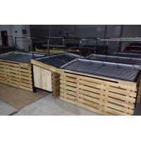 Quality Wood / Metal Vegetable And Fruit Supermarket Display Shelving For Store for sale