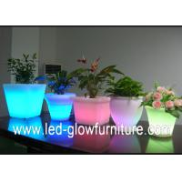Quality Beautiful Color changing led lighted flower pots outdoor ,Illuminated LED Ice Bucket / cooler for sale
