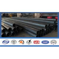 Quality Polygonal Shape Electrical Power Pole Hot Dip Galvanized Steel Tubular Poles for sale