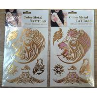 Quality UV colorchanging tattoos gold&foil tattoo for sale