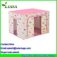 Quality Red dark girl laundry storage box non woven cloth bread baskets for sale