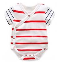 Quality 180 G 100% Cotton Summer Unisex Baby Wear With All Over Prints Placket for sale