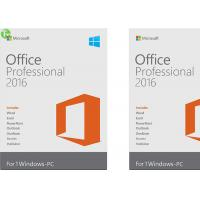 Quality Microsoft Office 2016 Home And Business Software PKC / Retail Version On Stock for sale