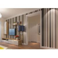 Quality Commercial Contemporary Wall Coverings with Wide and Narrow Stripes , PVC Wallpaper for sale