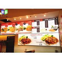 Quality Restaurant Curved Menu Boxes Lighted Menu Board Environmental Protection for sale
