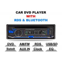 China Bluetooth Car Stereo Dvd Player Single Din Fixed Panel Front Aux Input on sale