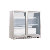 Quality 200L Double Hinge Door Beer Cooler Back Bar Chiller From RUIBEI Refrigeration for sale