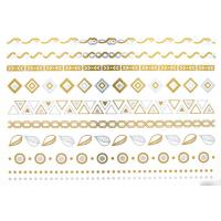 Quality high quality metallic tattoo. Silver foil tattoo, Jewelry temporary tattoo, for sale