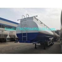 China 33 Cbm Heavy Duty Semi Trailers Oil Tank Trailer Stainless Steel 304 Material for sale