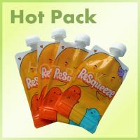 China Resealable Foil Stand Up Pouch With Spout , Refillable Baby Food Pouches on sale