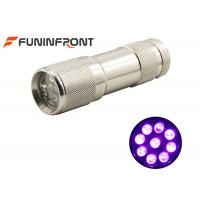 China MINI Portable 395nm UV LED Flashlight Works with 3*aaa Battery Currency Detector on sale