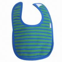 Quality Customized baby bib, phthalate-free dyed cotton, customizing printing and sizes are accepted for sale