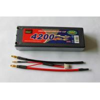 China RC Hobby Radio Control Style lithium polymer battery 7.4v 4200mAh 50c RC racing car battery on sale