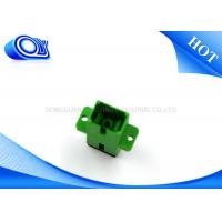 Quality Single Mode Simplex APC Fiber Optics Adaptor SC 0.2dB Insertion Loss for sale