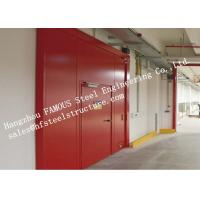 Quality PU Sandwich Core Painted Surface Steel Fireproof Doors For Warehouse Storage for sale
