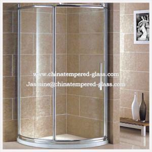 Corner Simple Tempered Glass Bathroom Simple Shower Room