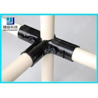 Quality 3 way Flexible Metal Pipe Joints Black Electrophoresis For Pipe Rack System for sale
