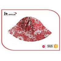 Quality 100% Cotton Red reversible fisherman printed bucket hat for children , kids , adult for sale