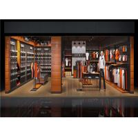 Quality Custom Materials Wall Mounted Clothes Rail , Sport Clothing Racks For Stores for sale