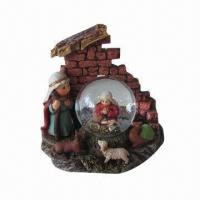 Quality Religious water globe, made of resin, suitable for religious and Christmas gifts for sale