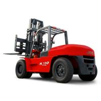 JAC 10 Ton Diesel Forklift , Large Capacity Counterbalance Forklifts , Heavy Equipment Forklift , Red Or Orange Color