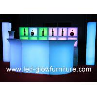 Quality Indoor / outdoor LED Glow Furniture Bar Counter with Injection Molding Technology for sale