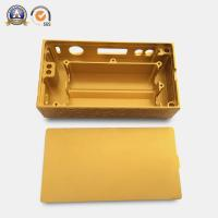 Buy Yellow Coated Cnc Mechanical Parts Electronic Cigarette Aluminum Case at wholesale prices