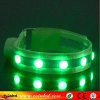 Quality New Design Multicolor Crystal Stud Nylon LED Dog Collar for sale