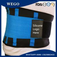 Quality WG-LS006 blue NeopreneLumbar Support with Compression Pull Straps with Customized Silicone Logo for sale
