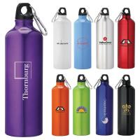 Quality 1000ml aluminum water bottle with carabiner/sports water bottle for sale