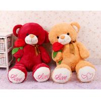 China Cute Giant Red Teddy Bear Stuffed Animal Toys With Rose Flower Jumbo 80cm on sale