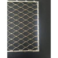 China SS 304 / 316 Golden Stair Rail Safety Mesh Perfect Anti - Rust Property on sale