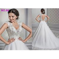 Quality Shaped Princess Style Wedding Dresses / Beads Decoration Princess Ball Gowns for sale