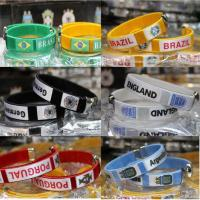 Quality Brand New 2014 World Cup Football Teams Inwrought Sport Bangle Cuff Bracelet TJ0141 for sale