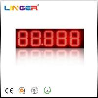 Quality Digit LED Gas Price Sign / Petrol Price Pylon Sign Board With Advertisement Display for sale